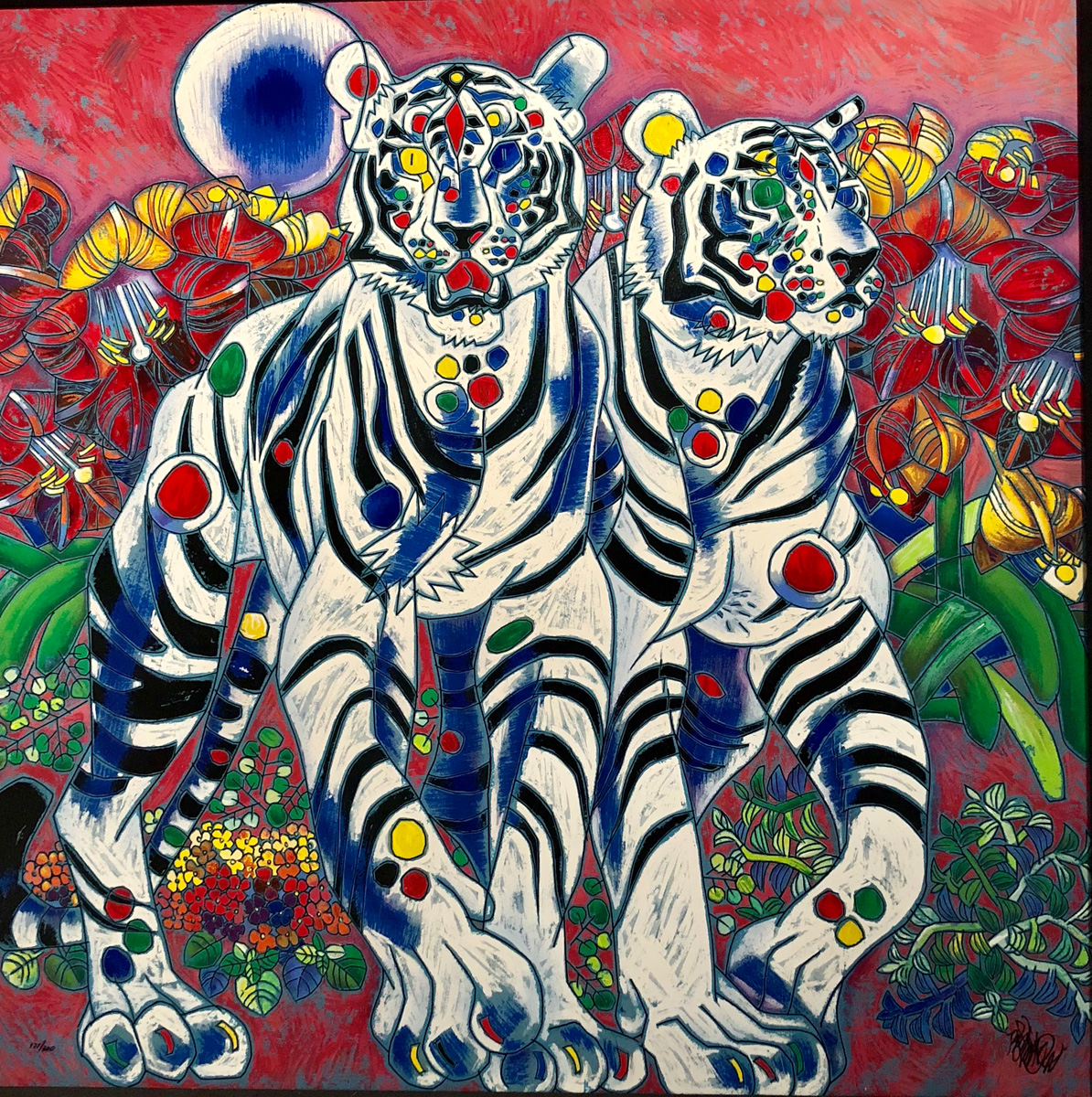 White Tigers by Jiang